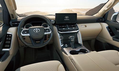 Interior of new LandCruiser 300 Series