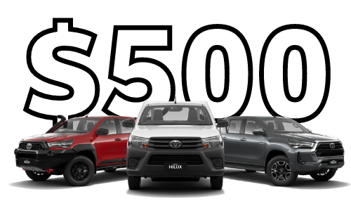 For evey Hilux sold in June 2021, Sunshine Toyota will donate $500 to Mix FMs Give Me 5 campaign!