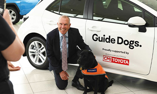 Paul Crawford with Guide Dogs SA/NT, Esky