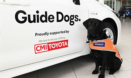 Guide Dogs SA/NT Esky with the Corolla