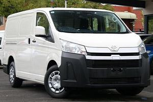 2020 Toyota HiAce LWB vans.