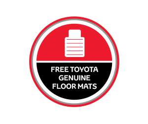 Free Genuine Toyota Floor Mats