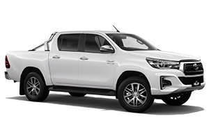 Brand New 2018 Toyota HiLux 4x4 SR5 Double-Cab Pick-up (Glacier White) with Leather Accented interior and power operated driver seat.