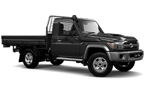 Brand New 2018 Toyota LandCruiser 70 GXL Single-Cab Cab-Chassis w/ GPA tray with under body tyre hanger (Graphite)