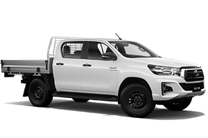 Brand New 2019 Toyota HiLux 4x4 SR Double-Cab Cab-Chassis (Glacier White)