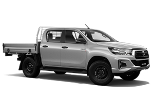 Brand New 2019 Toyota HiLux 4x4 SR Double-Cab Cab-Chassis (Silver Sky)