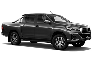 Brand New 2019 Toyota HiLux 4x4 SR5 Double-Cab Pick-up (Graphite) with Leather Accented interior and power operated driver seat.