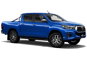 Brand New 2019 Toyota HiLux 4x4 SR5 Double-Cab Pick-up (Nebula Blue) with Leather Accented interior and power operated driver seat