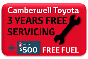 EXCLUSIVE TO Camberwell Toyota