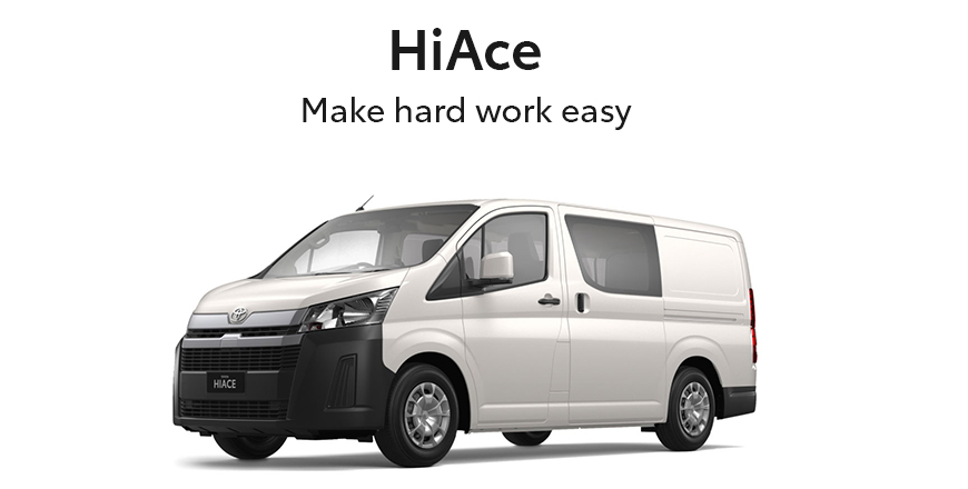 Toyota Hiace Van at Sunshine Toyota on the Sunshine Coast! Perfect for your business or recreational needs!