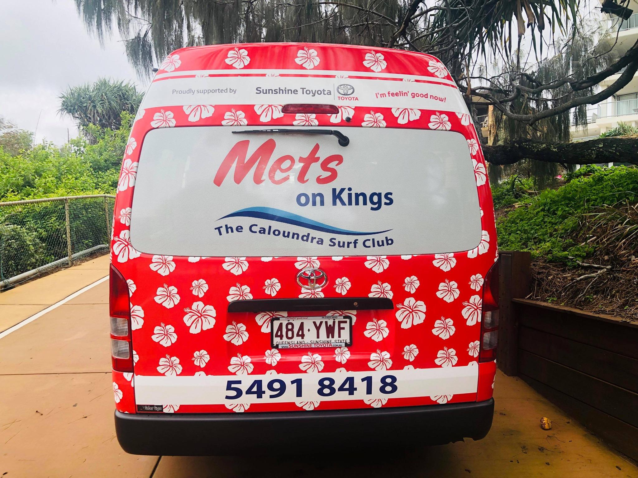 Sunshine Toyota sponsors Mets on Kings Courtesy Bus