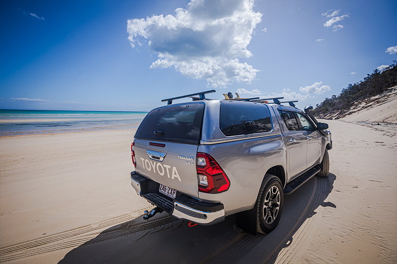 The interior of the Toyota HiLux SR5 - available now to test drive at Sunshine Toyota on the Sunshine Coast!