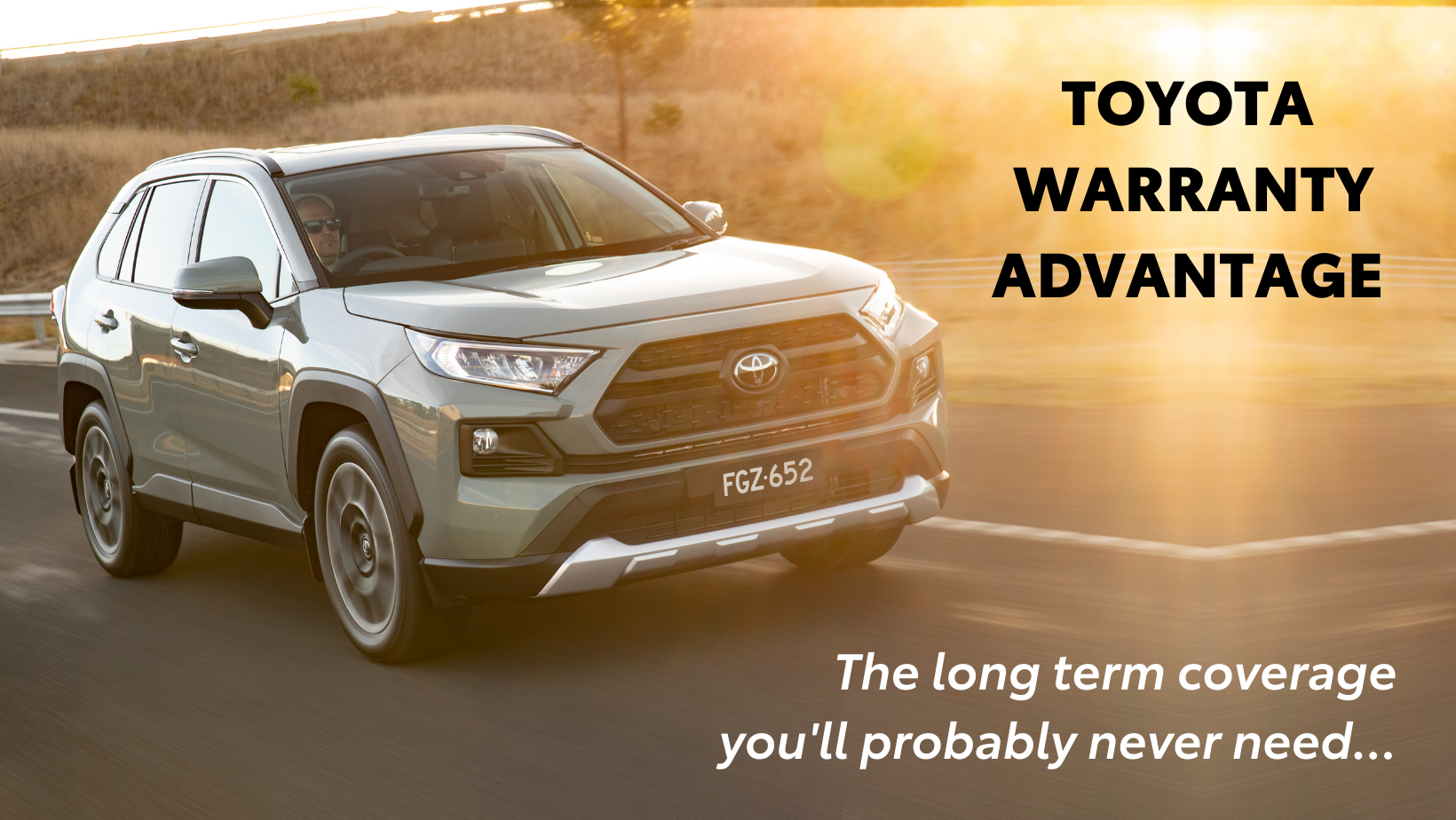 Toyota Warranty Advantage - 5 year unlimited kilometre warranty available with all new Toyota models! Talk to us today at Sunshine Toyota on the Sunshine Coast!