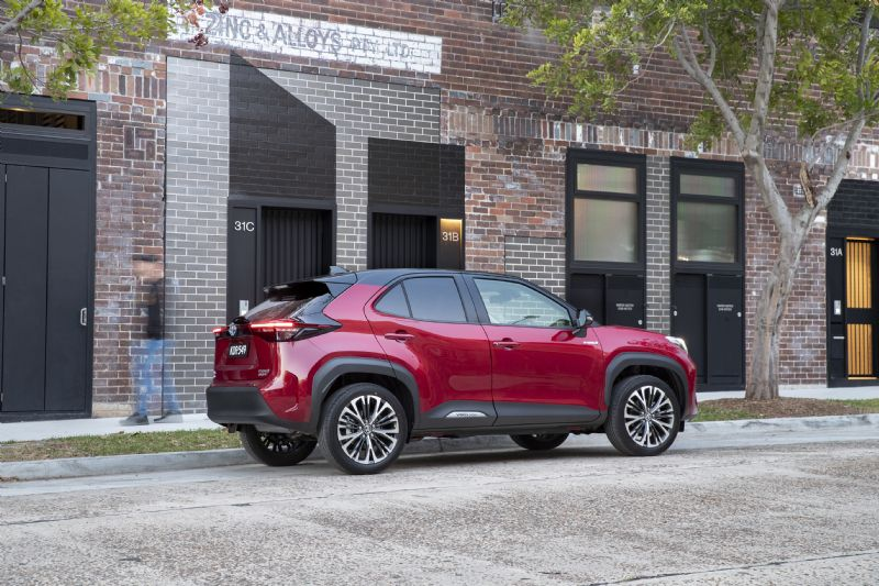 Red All-New Yaris Cross - visit us on the lake at Sunshine Toyota