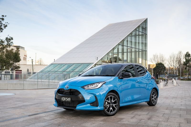 All-New Yaris in Electic Blue - visit us on the lake at Sunshine Toyota