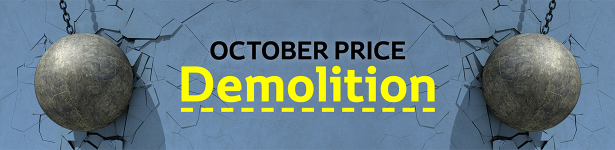 October Price Demolition