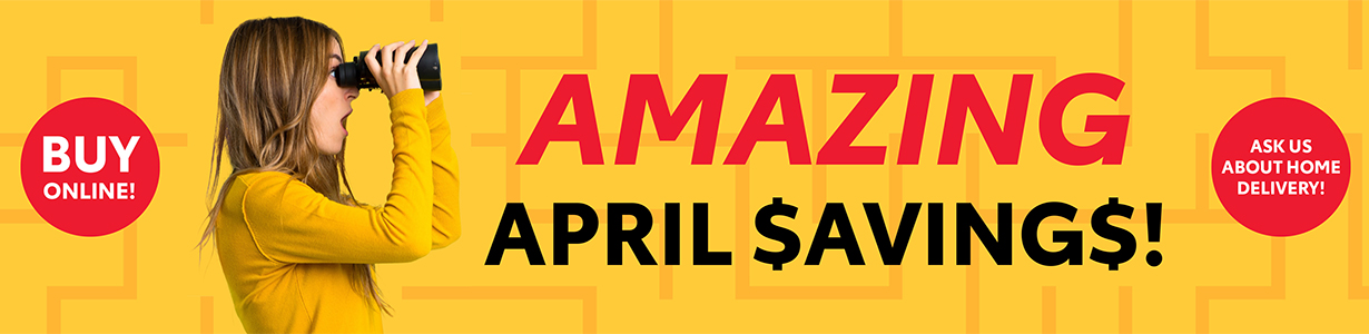 Amazing April Savings
