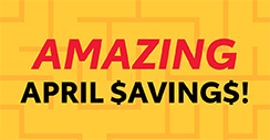 Amazing April Savings