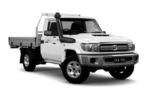 NEW 2019 LandCruiser 70 GXL Single-Cab Cab-Chassis TD Manual with General Purpose Alloy Tray