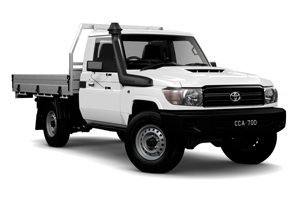 NEW 2020 LandCruiser 70 Workmate Single-Cab Cab-Chassis TD Manual with General Purpose Alloy Tray