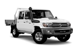 NEW 2020 LandCruiser 70 GXL Double-Cab Cab-Chassis TD Manual with General Purpose Alloy Tray