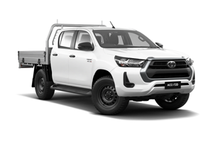 NEW 2020 Hilux SR 4x4 Double-Cab Cab-Chassis Turbo-Diesel Auto with Heavy Duty Alloy Tray