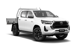 NEW 2020 Hilux SR5 4x4 Double-Cab Cab-Chassis Turbo-Diesel Auto with Heavy Duty Alloy Tray