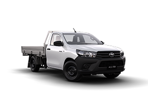 WHITE 2017 Hilux 4x2 Workmate Single-Cab Cab-Chassis Manual