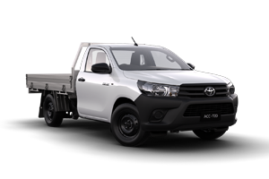WHITE 2018 Hilux Workmate Petrol 4x2 SCC Manual