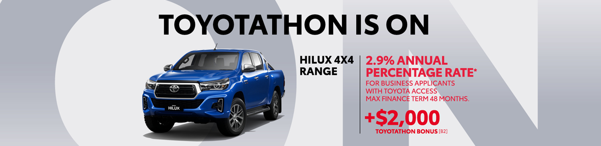 HiLux Fleet Offer:  2.9% annual percentage rate, with $2000 bonus!
