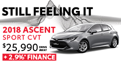 2018 Corolla 2.9% Finance Offer