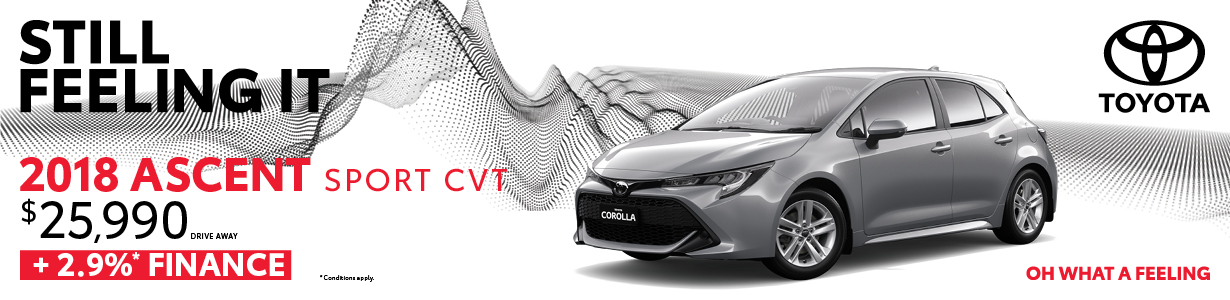 2018 Corolla 2.9% Finance Offer