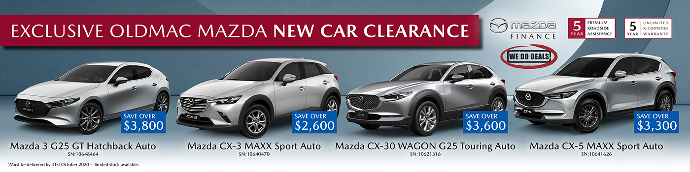 New Mazda EXCLUSIVE Savings